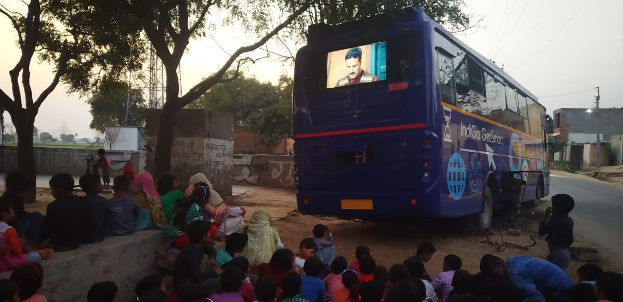 Movies for Change using GetSmart digital buses